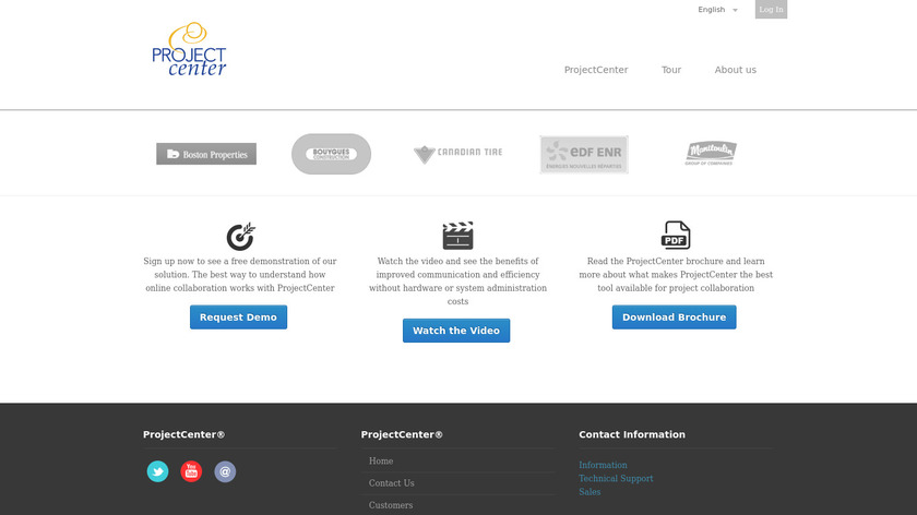 ProjectCenter Landing Page