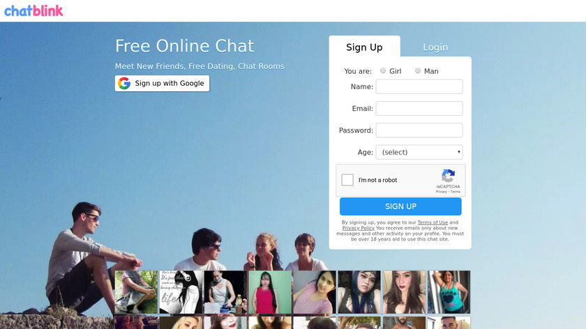 Chat Blink Landing Page