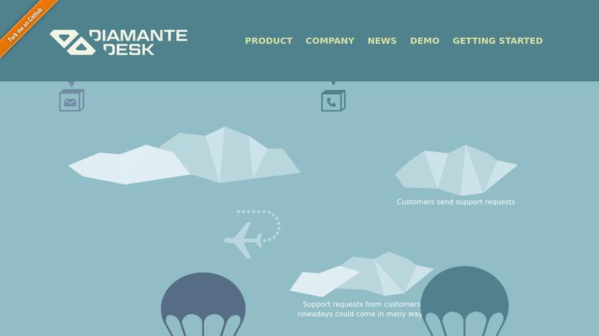 DiamanteDesk Landing Page