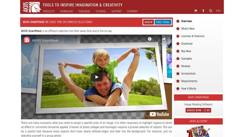 AKVIS SmartMask Landing Page