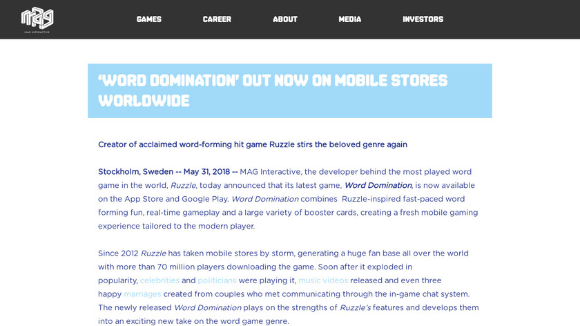 Word Domination Landing Page
