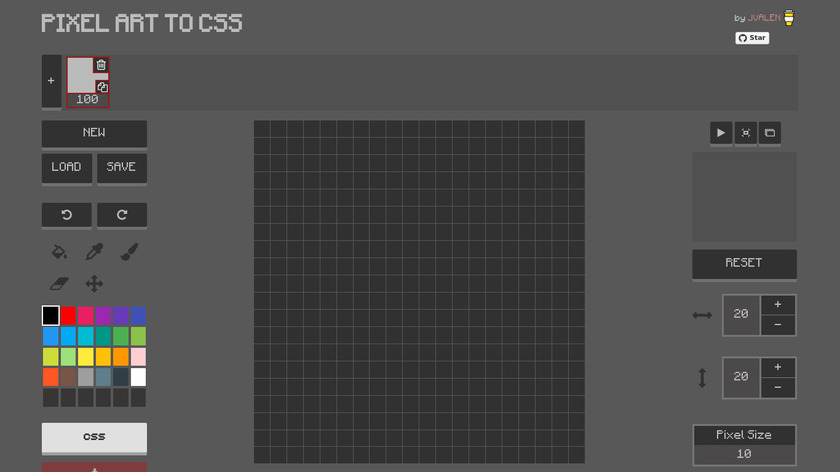 Pixel Art to CSS Landing Page