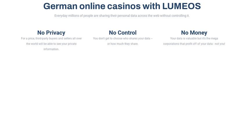 Lumeos Landing Page