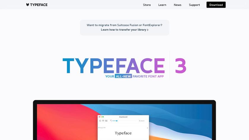 Typeface 2 Landing Page