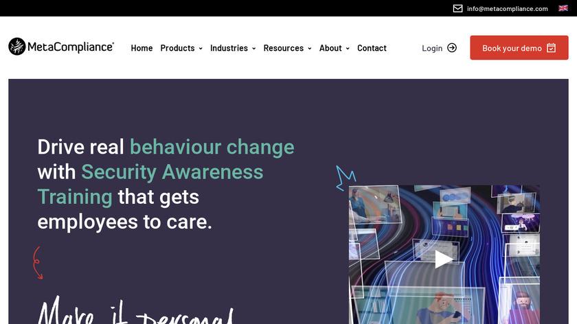 MetaCompliance Landing Page