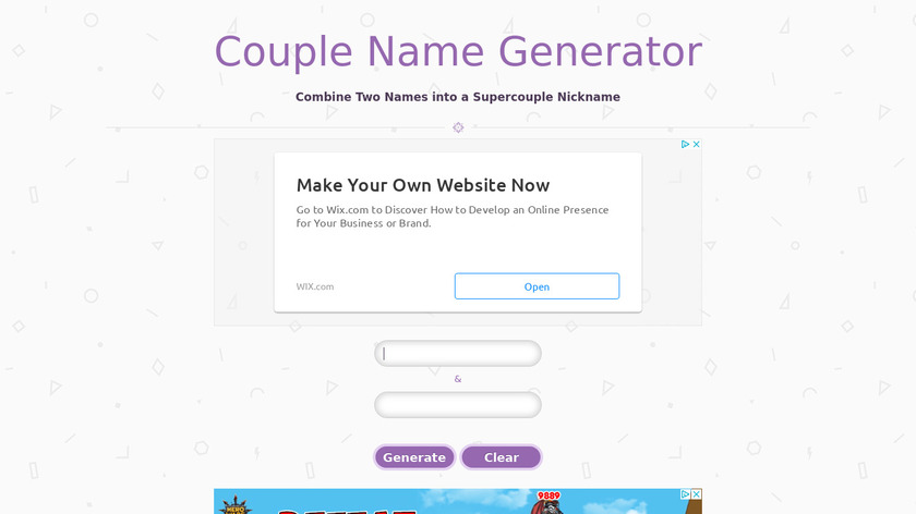 Couple Name Generator Landing Page