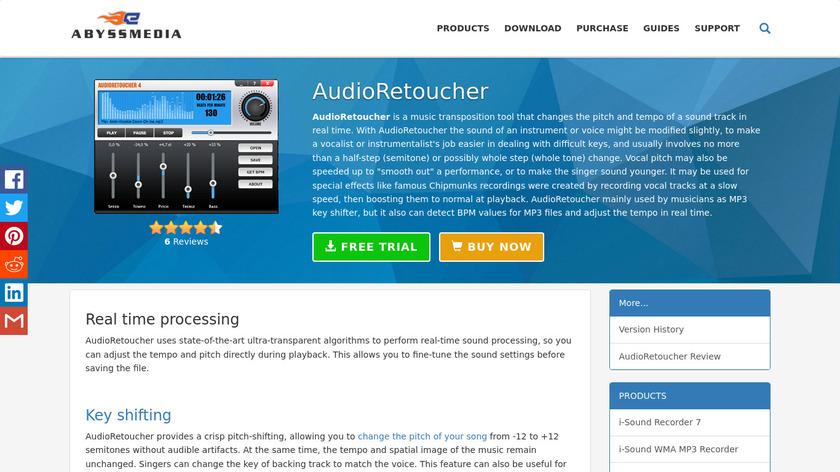 AudioRetoucher Landing Page