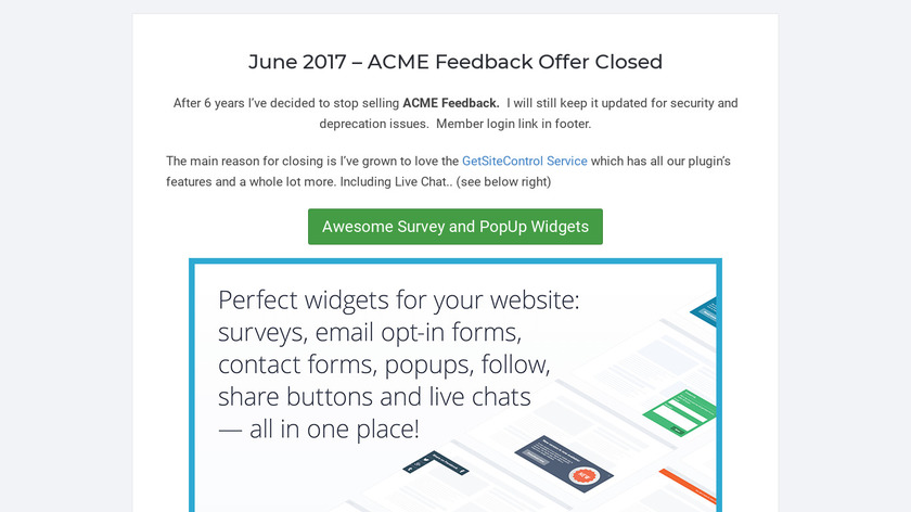 ACME Feedback Landing Page