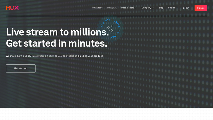 Mux Live Streaming API Landing Page