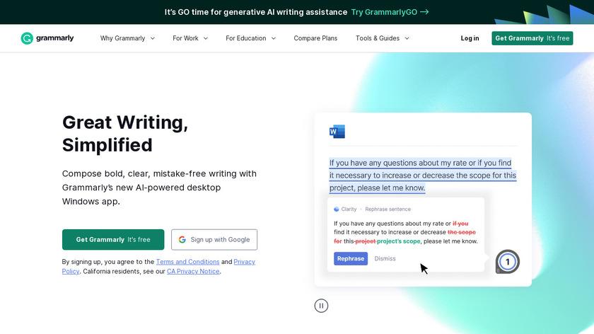 Grammarly Landing Page