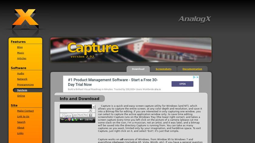 Capture Landing Page
