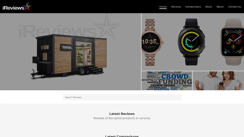 iReviews Landing Page