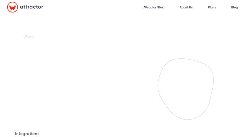 Attractor Start Landing Page