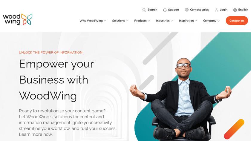 WoodWing Elvis DAM Landing Page