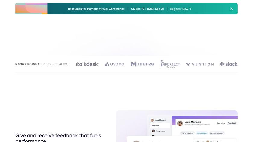 Lattice Feedback Landing Page