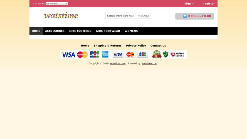 Watstime Landing Page