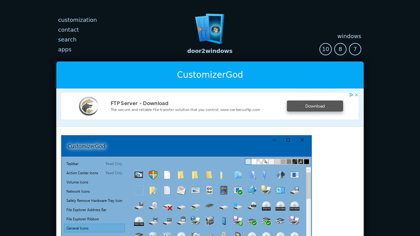 CustomizerGod Landing Page