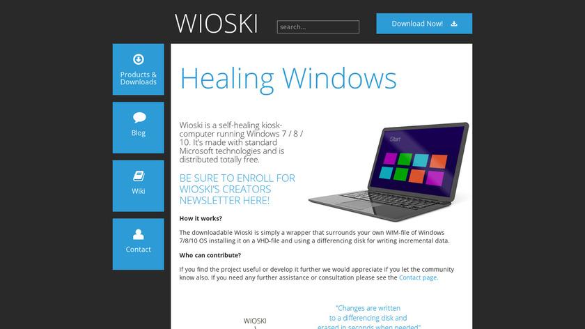Wioski Landing Page