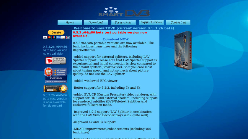 SmartDVB Landing Page