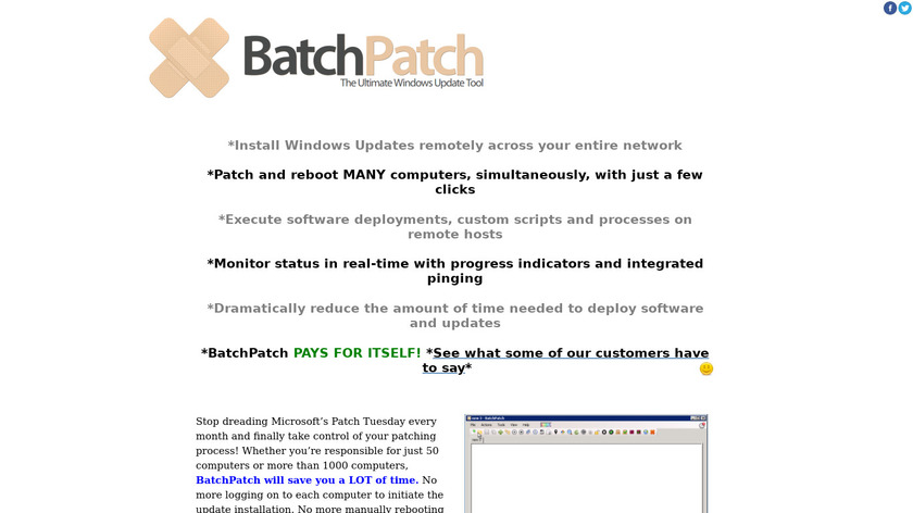 Batchpatch Landing Page