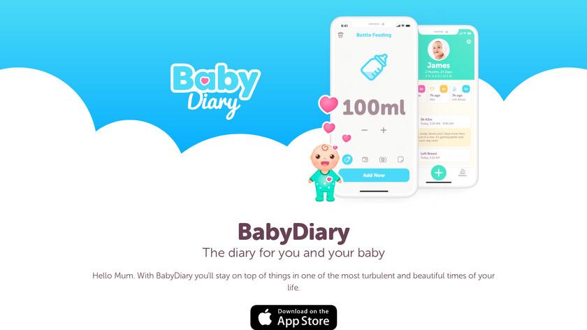 BabyDiary Landing Page