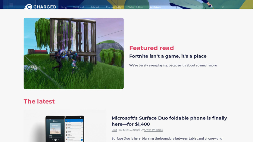 Charged newsletter Landing Page