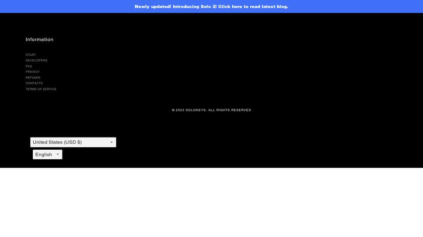 SoloKeys Landing Page