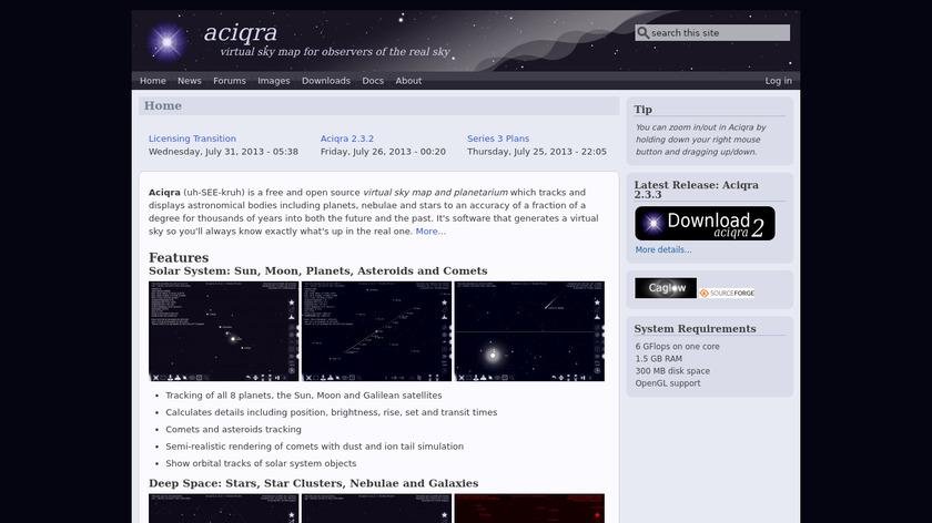 Aciqra Landing Page
