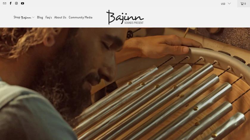 Bajinn Landing Page