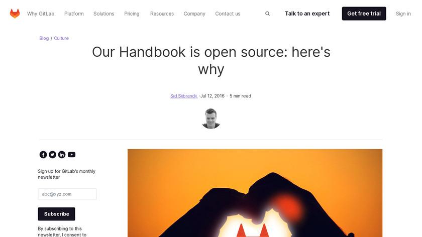 GitLab Employee Handbook Landing Page