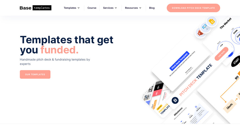 Pitch Deck Template Landing Page