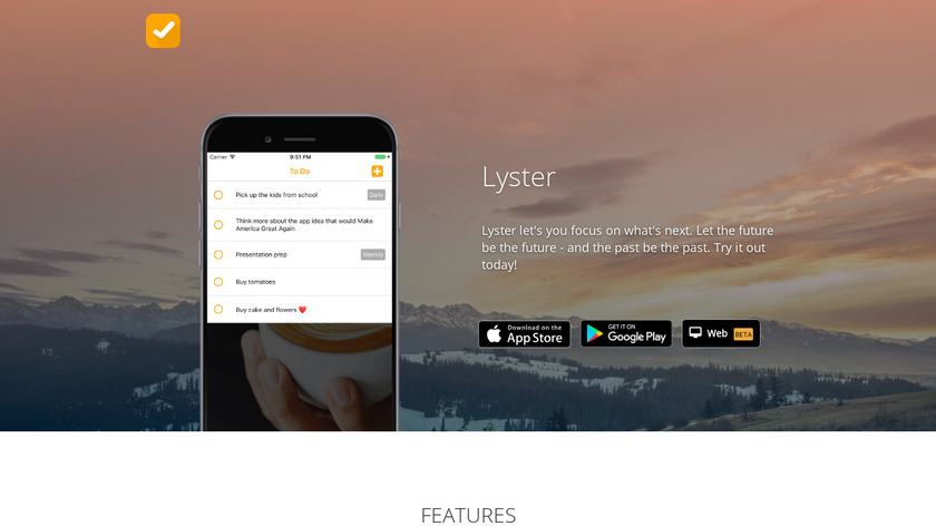 Lyster Landing Page