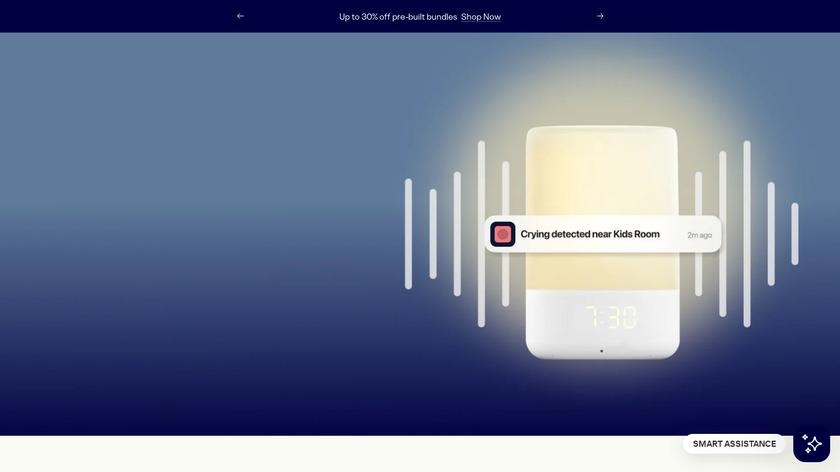 Nanit Baby Monitor Landing Page