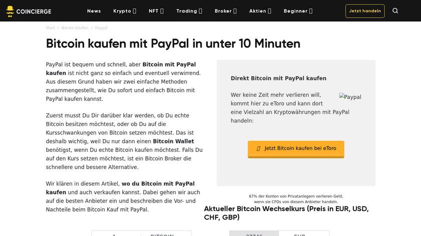 WatchCoins Landing Page