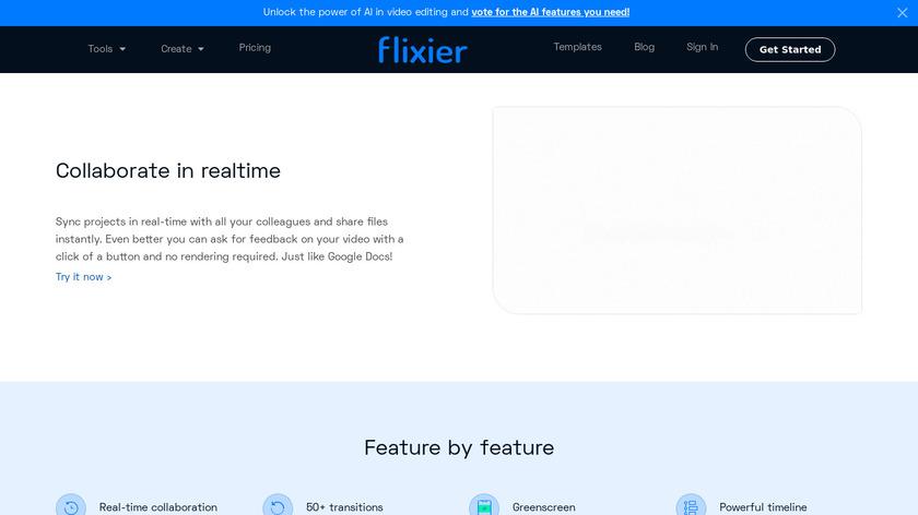 Flixier Landing Page