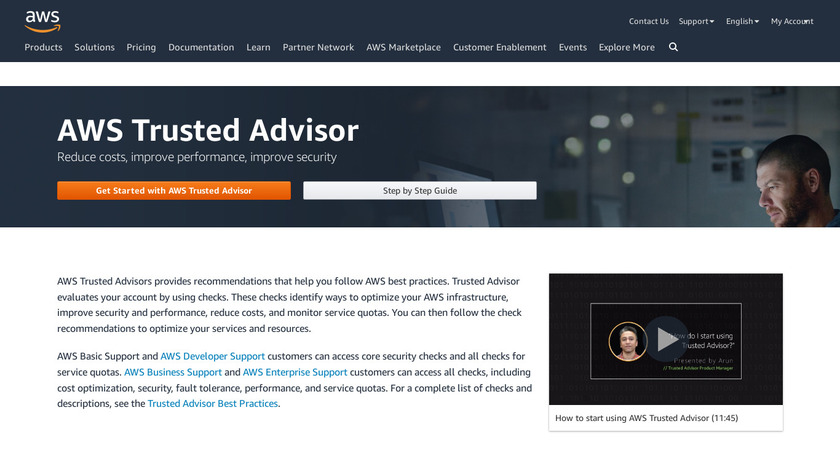 AWS Trusted Advisor Landing Page
