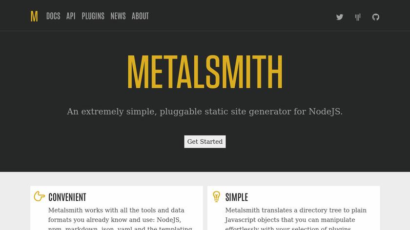 Metalsmith Landing Page