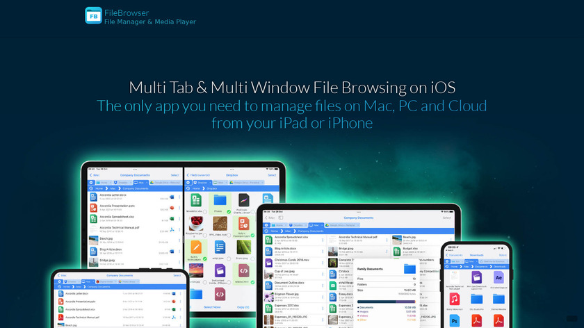 FileBrowser Landing Page