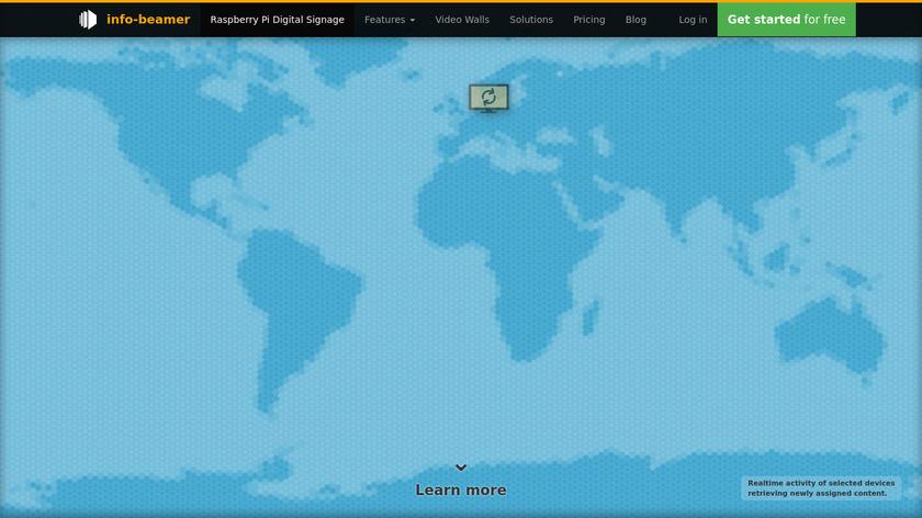 info-beamer Landing Page