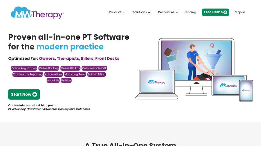 MWTherapy Landing Page