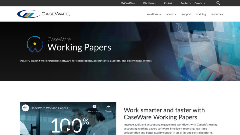 CaseWare Working Papers Landing Page