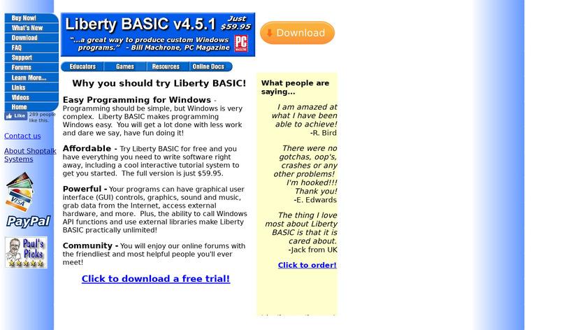 Liberty BASIC Landing Page