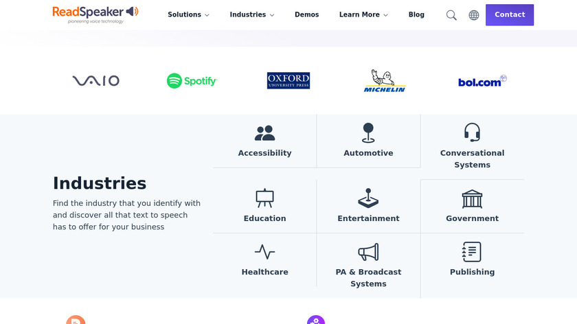 NeoSpeech Landing Page