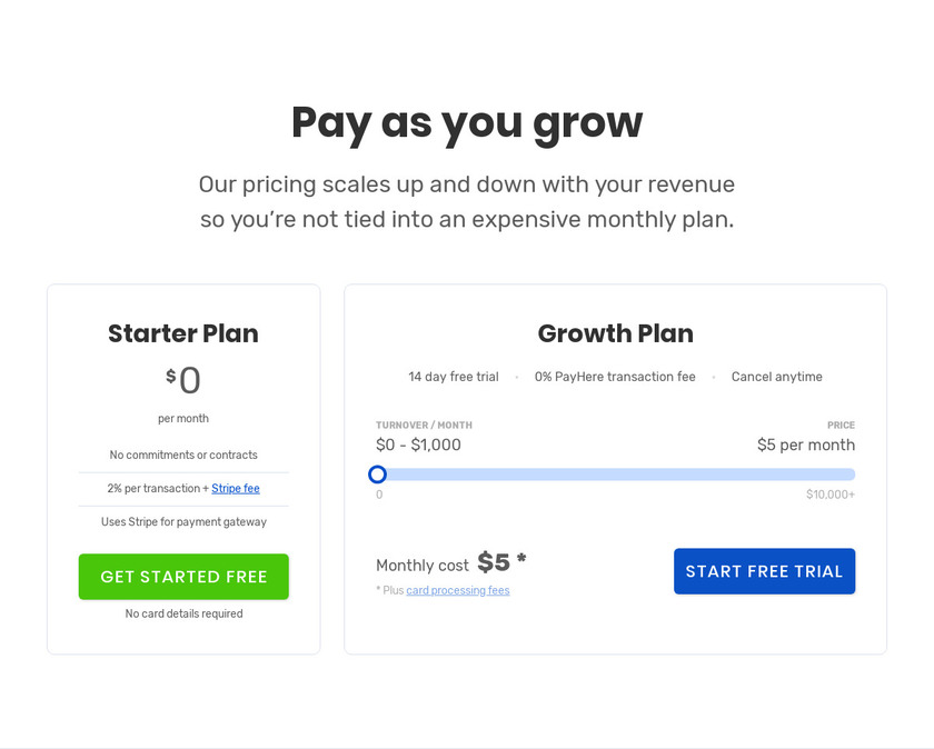 PayHere Pricing