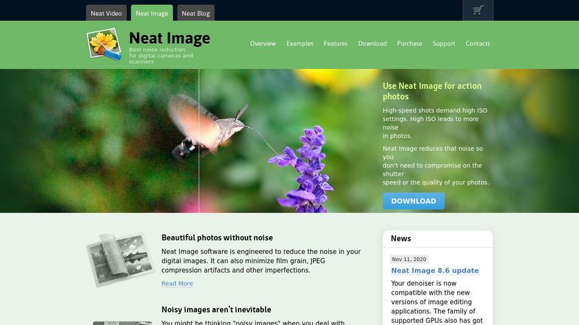 Neat Image Landing Page