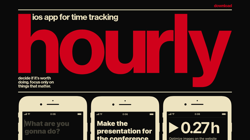 Hourly Landing Page