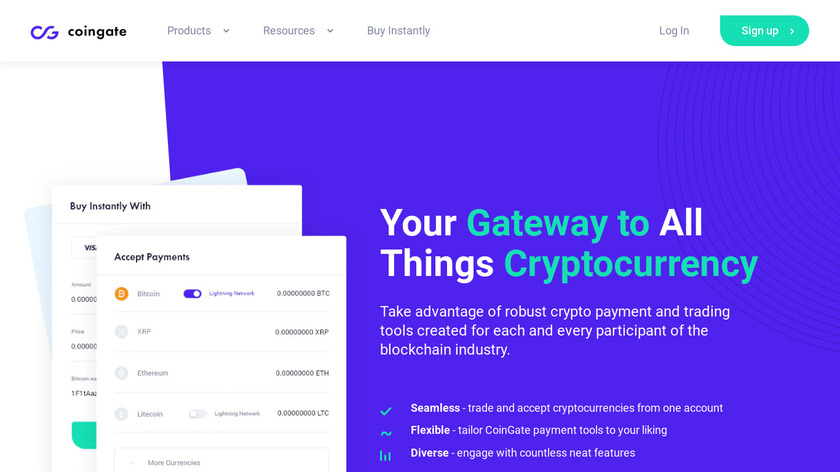 CoinGate Landing Page