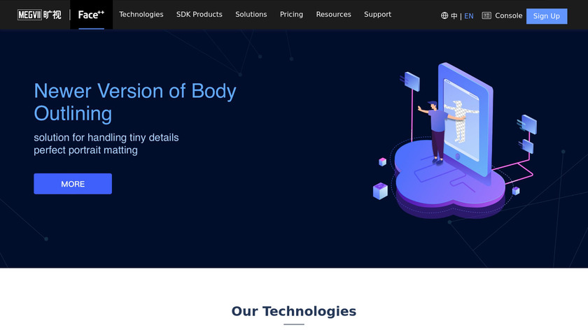 Face++ Landing Page