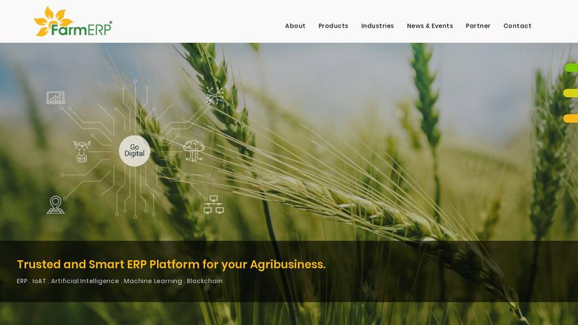 FarmERP Landing Page