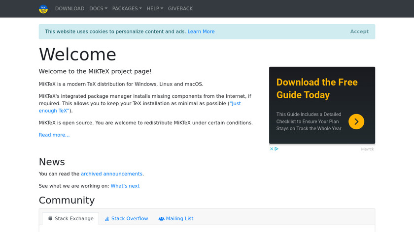 MiKTeX Landing Page